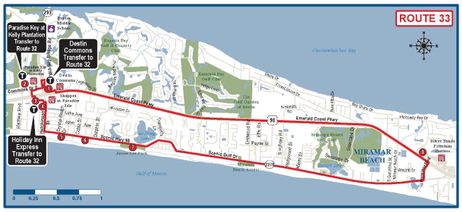 Destin Bus Route Map 33